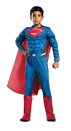 Rubie's Costume Boys Justice League Deluxe Superman Costume, Small, (Make Halloween Costume Your Own)