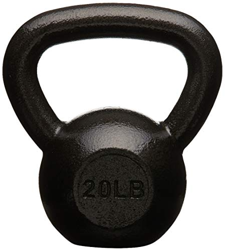 Amazon Basics Cast Iron Kettlebell – 20 Pounds, Black
