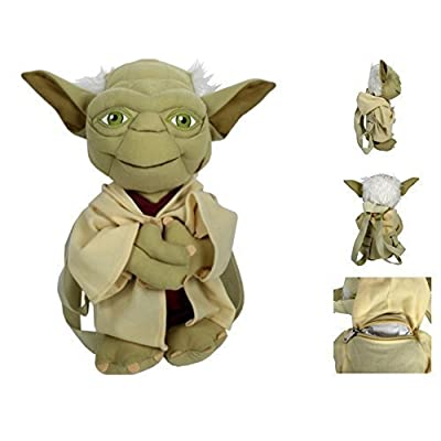 Star Wars Yoda Boys Plush Backpack: Toys & Games