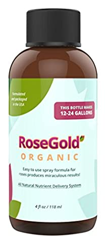 MasterGreen Formulas Plant Food Organic Rose Gold with 200+ Nutrients Liquid Concentrate Makes 24 gal Proven Great Plant Care for Organic Gardening Beautiful - Liquid Plant Food