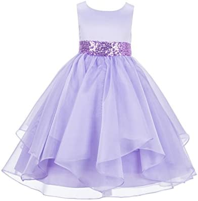 ekidsbridal Asymmetric Ruffled Organza Toddler