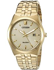 Citizen Mens Eco-Drive Stainless Steel Watch with Date, BM7332-53P