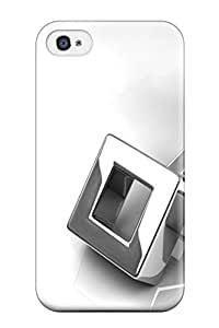 New Fashion Premium Tpu Case Cover For Iphone 4/4s - Titanium