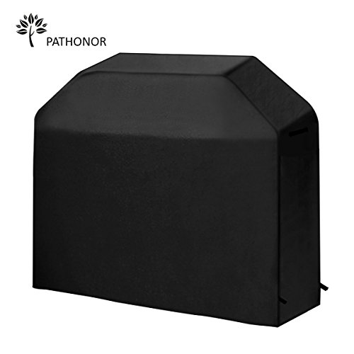 Grill Cover, PATHONOR 58 Inch Waterproof Outdoor Grill Cover BBQ Grill Cover PATHONOR Heavy Duty Grill Cover With PU Coating Cover For Weber, Brinkmann, Holland, Jenn Air