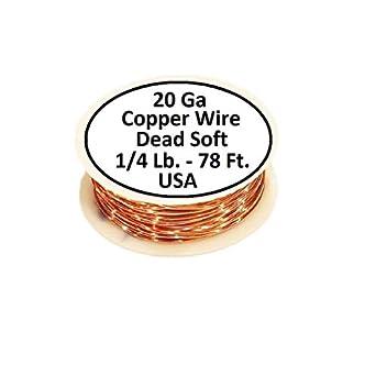 Each Spool 2 x 50 ft Solid bare Copper 12 Ga Copper Wire Round  Soft 2 x 1 Lb