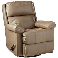 Living Room Lane Home Furnishings 4205-18 Soft Touch Swivel/Rocker Recliner – Taupe