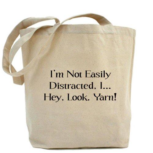 CafePress bolsa - distraído por bolsa para herramientas de hilados