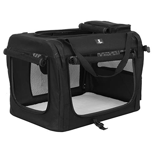 X-ZONE PET 3-Door Folding Soft Dog Crate, Indoor Outdoor Pet Home, Multiple Sizes and Colors Available