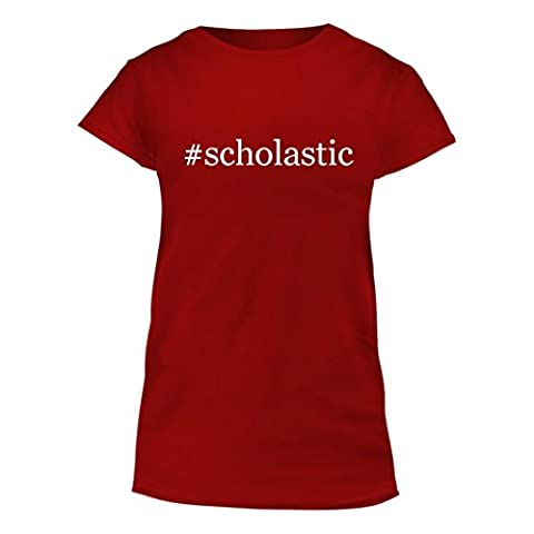 #scholastic - Junior Cut Hashtag Women's T-Shirt, Red, X-Large (Junior Scholastic)