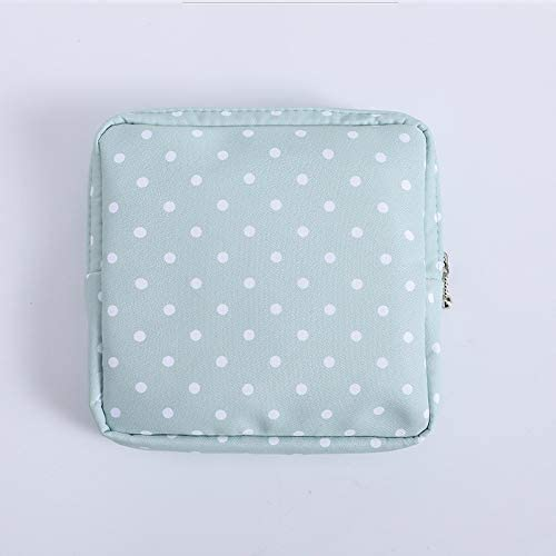ZHANGXIUE 女性の小さな化粧品バッグセットジッパーガールズミニメイクアップリップスティックバッグトラベルイヤホンコインナプキンオーガナイザーポーチバッグ (Color : B)