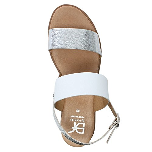 Silver DF By Leather Slant Back Daniel Sandals Sling Leather Silver vrrtKqEpw