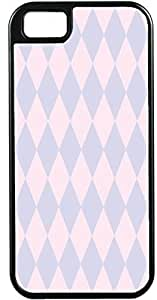 iPhone 4 Case iPhone 4S Case Cases Customized Gifts Cover Diamond Pattern Design Light Pink and Lavendar - Ideal Gift
