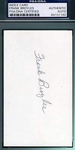 FRANK BROYLES PSA DNA Coa Autograph 3x5 Index Card Hand Signed Authentic