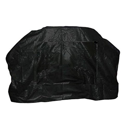 Heavy Duty Quality Barbecue Plain Black 59″ BBQ Barbeque Gas Grill Cover with Flannel Backing