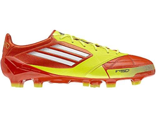 sale retailer 4c040 c3771 Adidas F50 ADIZERO TRX FG LEA LEDER, Scarpe da calcio uomo, Rosso (Rot