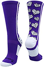 Crazy Love Volleyball Hearts Crew Socks