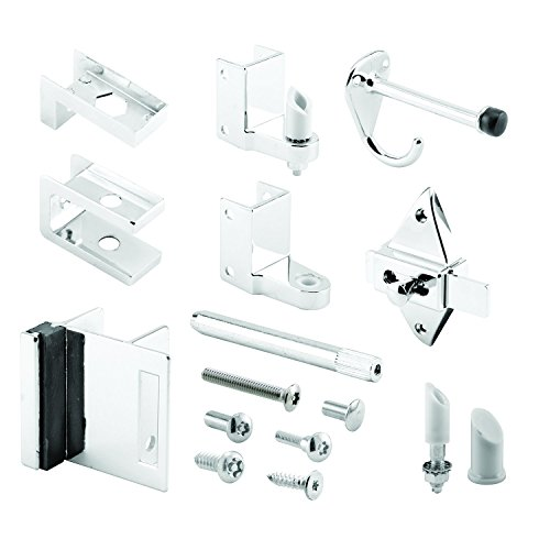 Sentry Supply 656-3111 Door Kit, 7/8 in. Door & 1-1/4 in. Pilaster, Zamak, Chrome, Outswing, Pack of 1 Kit (Panel Pilaster)