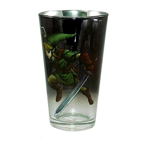 JUST FUNKY The Legend of Zelda (LOZ) Official Link: Champion of Hyrule Pint Glass, -
