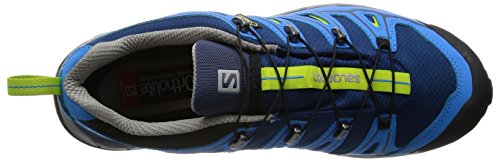 Salomon L38163600, Zapatillas de Senderismo para Hombre Azul (Midnight Blue /     Process Blue /     Green Gl)