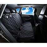 Alfheim Dog Nonslip Back Seat Cover with Anchors and Adjustable Pet Dog Car Seat Belt