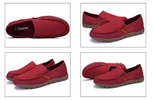 Hw-goods Zapatillas De Deporte De Lona Para Hombre Zapatillas De Deporte Ocasionales Slip-on Loafer