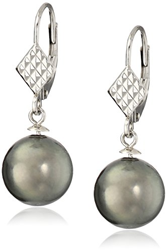 14k-White-Gold-9-10mm-Black-Tahitian-Cultured-Pearl-with-Rectangular-Design-Leverback-Dangle-Earrings