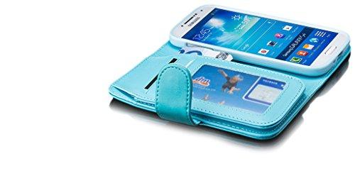 Samsung Galaxy S4 | iCues bolsa Monedero de Brown | [Protector de pantalla, incluyendo] cuero - libro con bisagras de la manga bolsillo del teléfono celular bolsa protectora para abrir la caja tirón d Lila