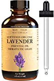 Lavender Essential Oil 4 oz, USDA Certified Organic, by Mary Tylor Naturals, Premium