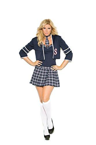 Sexy Schoolgirl Class Distraction Costume 4pc Cami, Jacket,