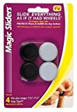 Magic Sliders 04273 1-1/8'' To 1-1/4'' Round Self Gripping Magic Sliders® 4 Count