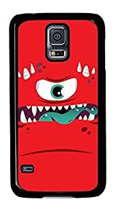 Case Shell for Samsung Galaxy S5 Covered with Red Monster,Customized Black Hard Plastic Cover Skin for Samsung Galaxy S5 I9600,Cute iPhone 4 4S Case Kimberly Kurzendoerfer