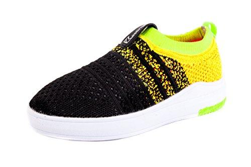 Kastinger Kinder Sneaker Low Schwarz Gelb Gr. 31 Schwarz