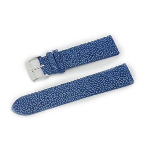 CASSIS GALUCHAT Caoutchouc Genuine Stingray Leather Waterproof Lining Watch Strap 22mm Dark Blue with Tool U0066G48063022