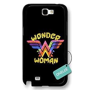 diy case- Customize Cartoon Black Superwoman Wonder Woman HTC One M7 - Black 5