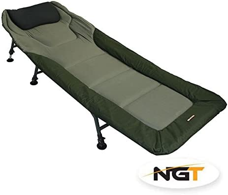 NGT Carp Fishing Bedchair Bed Chair With 6 Adjustable Legs For Tall Anglers by NGT: Amazon.es: Deportes y aire libre