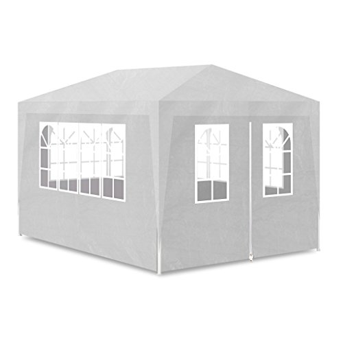 Festnight 10' x 13' Wedding Party Tent with Side Walls White Gazebo Canopy