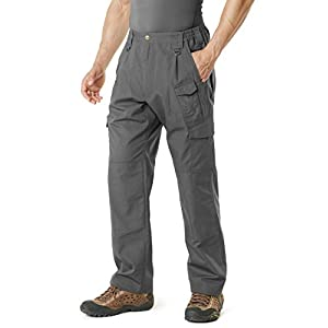 Fashion Shopping CQR Men's Tactical Pants, Water Repellent Ripstop Cargo Pants, Lightweight
