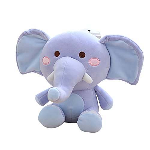 9.1inch Cute Elephant Hugging Pillow Super Soft Plush Toy Pillow Pet Stuffed Animal Pillow Pal Buddy Throw Pillow for Kids,Great Gift Idea for Birthday Party,Bed Room Sofa Chair Decor (Blue) (Plush 11 Elephant)