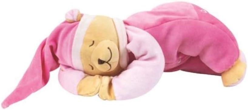 Juguete de peluche con m/ódulo de sonido que hace sonidos del utero para calmar a un beb/é reci/én nacido Doodoo Babiage Osito Beige