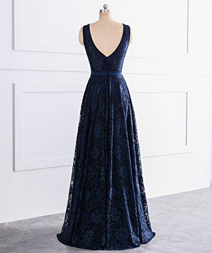 A ärmellos Ausschnitt Langes Abendkleider Kleid Dunkelgrun Spitze Rueckenfrei mit Linie Gürtel V Grau Ballklider rTqrf