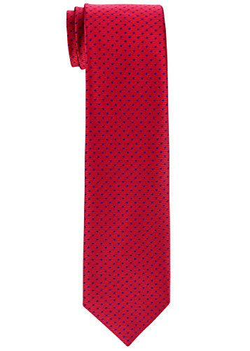 Retreez Modern Mini Polka Dots Woven Boy's Tie (8-10 years) - Red with Navy...