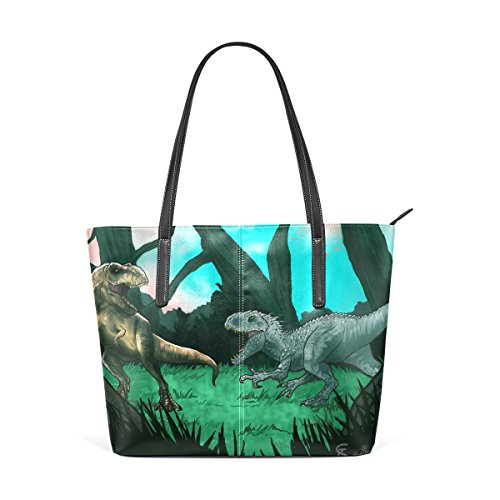 Means And Muticolour Old Bag Tote For Coosun Pu Leather The Dinosaurs Women Bags Purse Handbag 8SqgOwxS