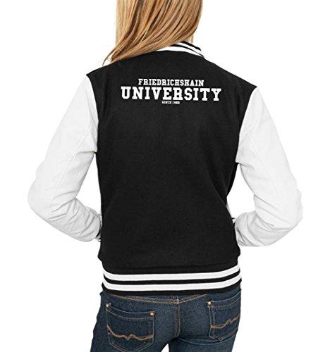Friedrichshain University College Vest Girls Black Certified Freak
