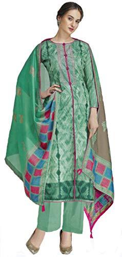 Narayan Creations Cotton Embroidered Salwar Suit Dupatta Material  Un Stitched