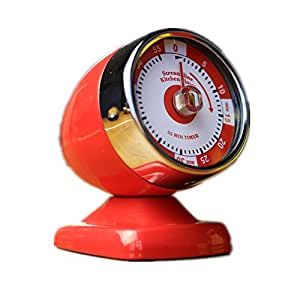 Huayoung Creative Battery-free Mechanical Multifunctional Timer 3 Color Options (Red)