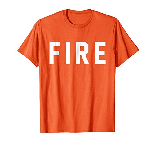 Mens Fire Shirt for Firefighter Halloween Costumes XL Orange