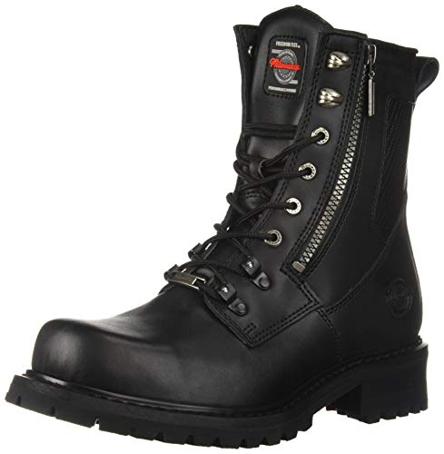 Milwaukee Motorcycle Clothing Company Trooper Leather Men's Motorcycle Boots (Black, Size 9.5D)