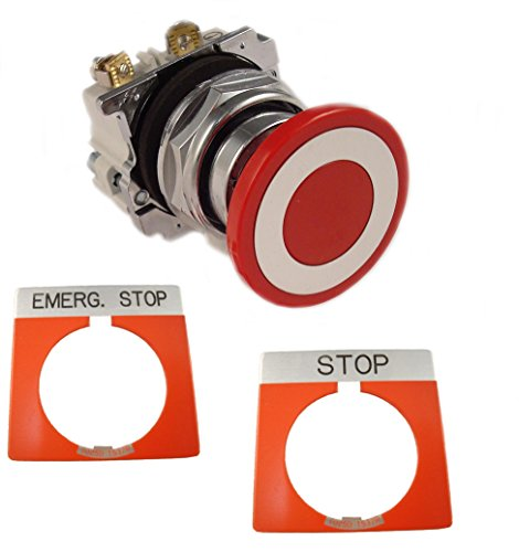 Eaton 10250T5B62-1-POP Maintained Heavy-Duty Pushbutton 30.5 mm 1 NO-1 NC 40 mm Mushroom Head Push-Pull Actuator Red ()