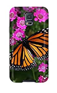 Durable Protector Case Cover With Butterfly Closeup Hot Design For Galaxy S5