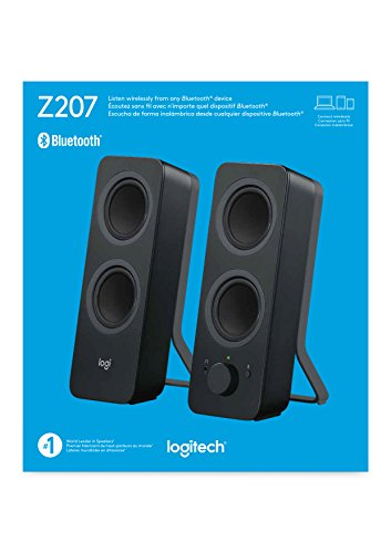 Logitech Z207 (Black) 10 mW 2.0 Channel Speakers